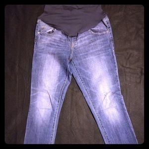 Old Navy Maternity Slim fit Jeans full panel sz 10
